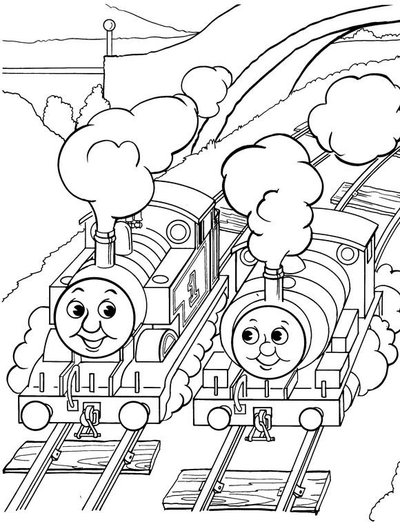 Mewarnai Gambar Thomas the Train