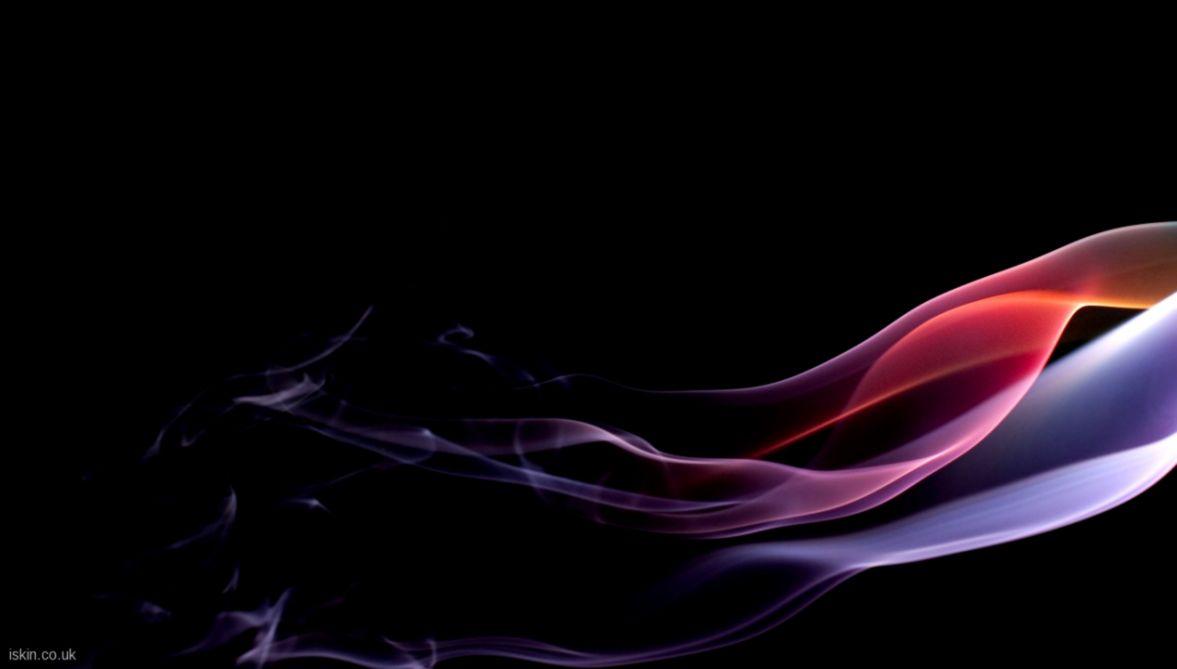 Abstract rainbow smoke wallpaper