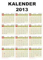 Download Kalender 2013, tahun baru 2013, daftar harga kalender