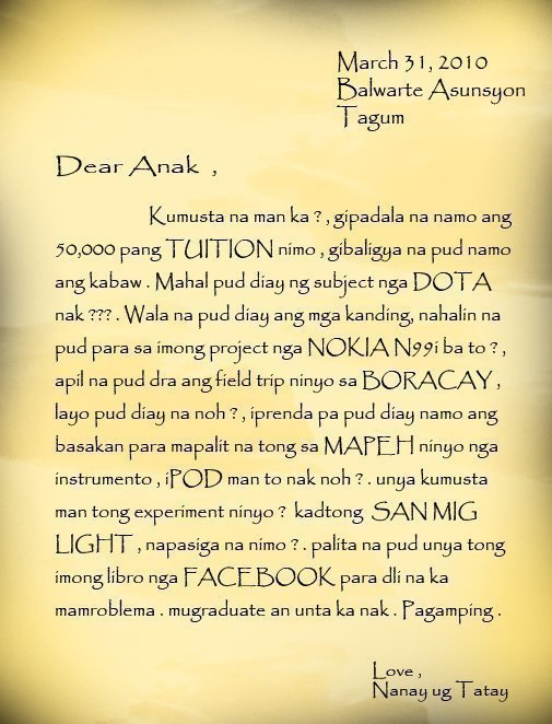 Calendar Quotes Tagalog : Tagalog letter para sa kaibigan my about may