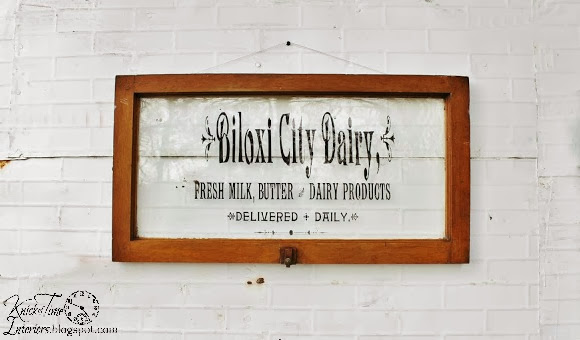 Repurposed Window Dairy Sign on Antique Wooden Window by http://knickoftimeinteriors.blogspot.com/