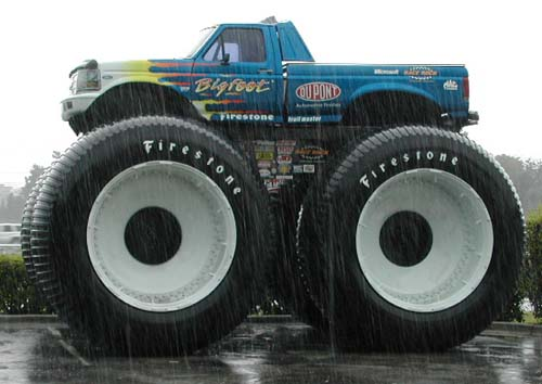 these trucks were built from pick up trucks the first monster trucks