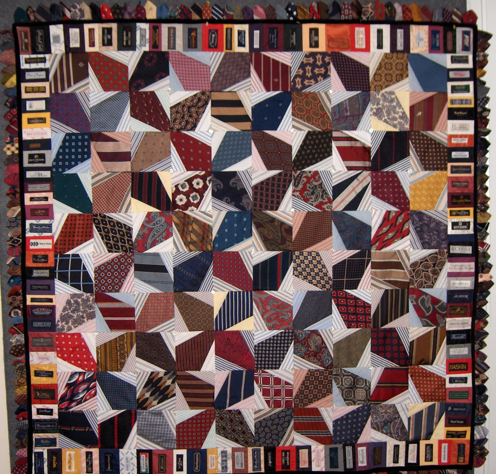 Quilting Patterns Using Men S Ties : Quilt Inspiration: Shirt-and-tie quilts, by Nancy Sturgeon