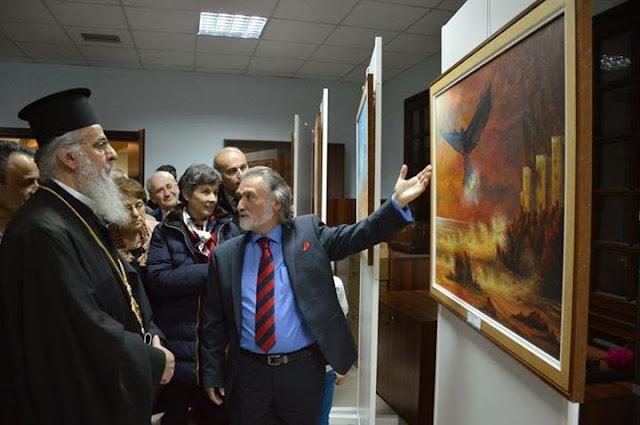 Η έκθεση Ζωγραφικής για τη Γενοκτονία του Ποντιακού Ελληνισμού που προκάλεσε έντονα συναισθήματα…