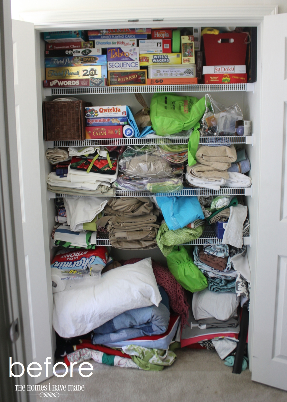 Ideas for Organizing the Linen Closet | The Homes I Have Made