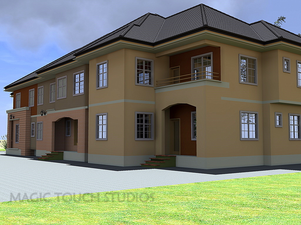 4 bedroom duplex with attached two bedroom flat for 4 bedroom flat design