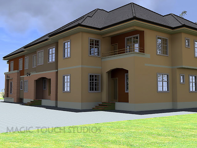 4 bedroom duplex with attached two bedroom flat for 4 bedroom duplex designs
