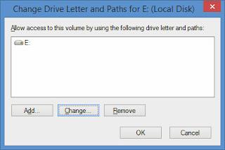 mengganti nama local disk
