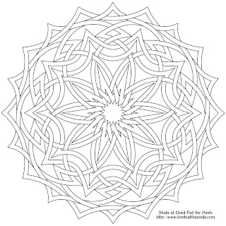 Coloring page- knotwork