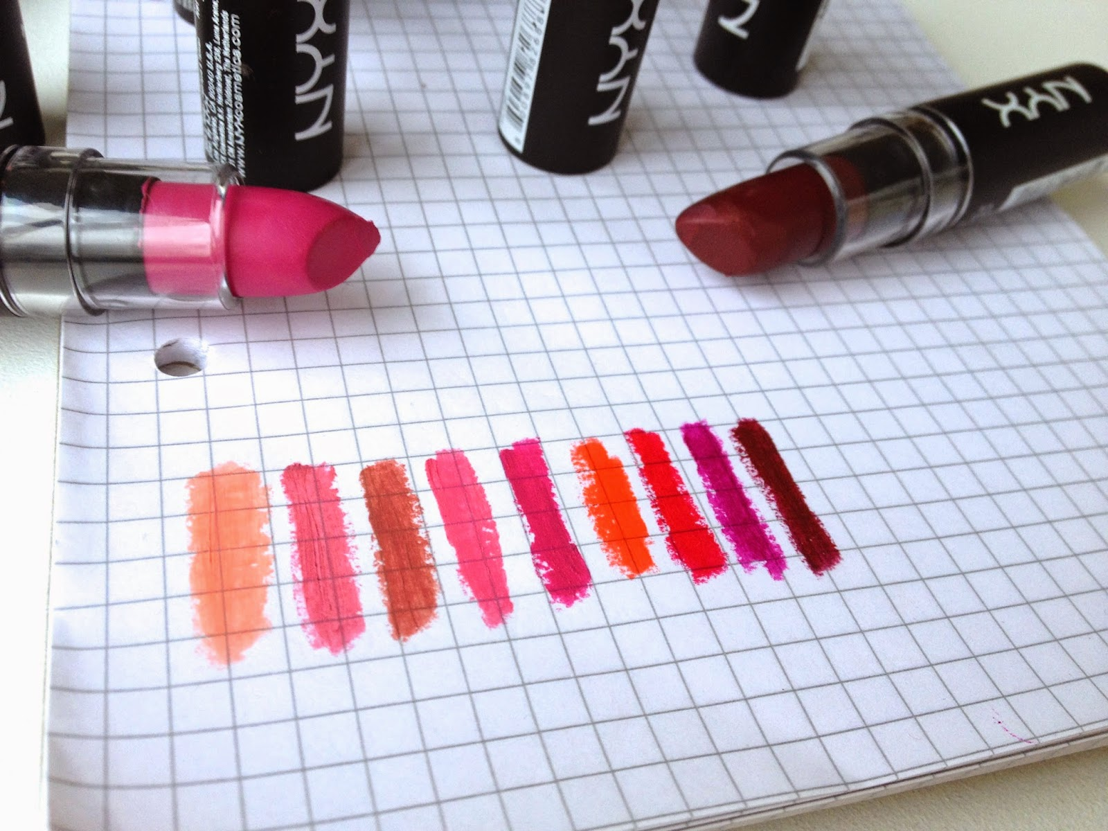 NYX Matte Lipstick Review and Swatches | Christine's Beauty and Makeup