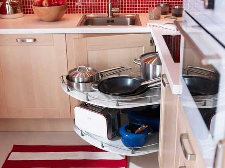 I d e a el espacio en la cocina soluciones para for Mueble esquinero cocina ikea