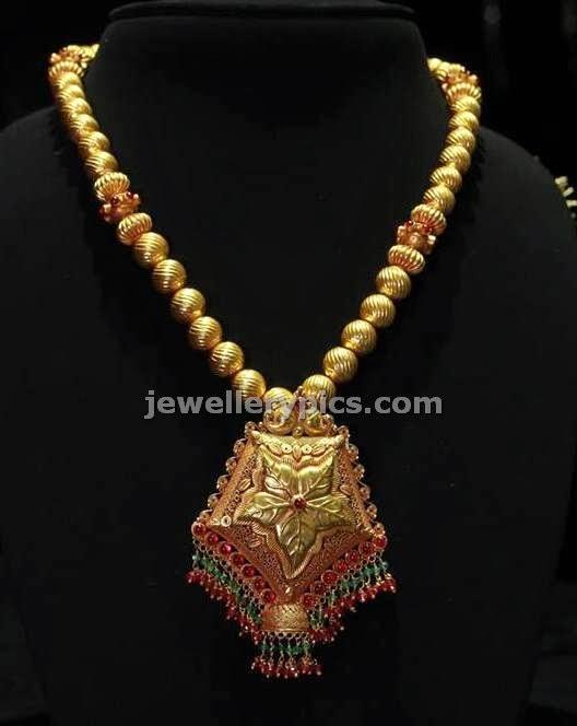 Single Row Gundla Mala By Kalyan Jewellers Latest Jewellery Designs