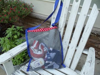 patriotic beach bag