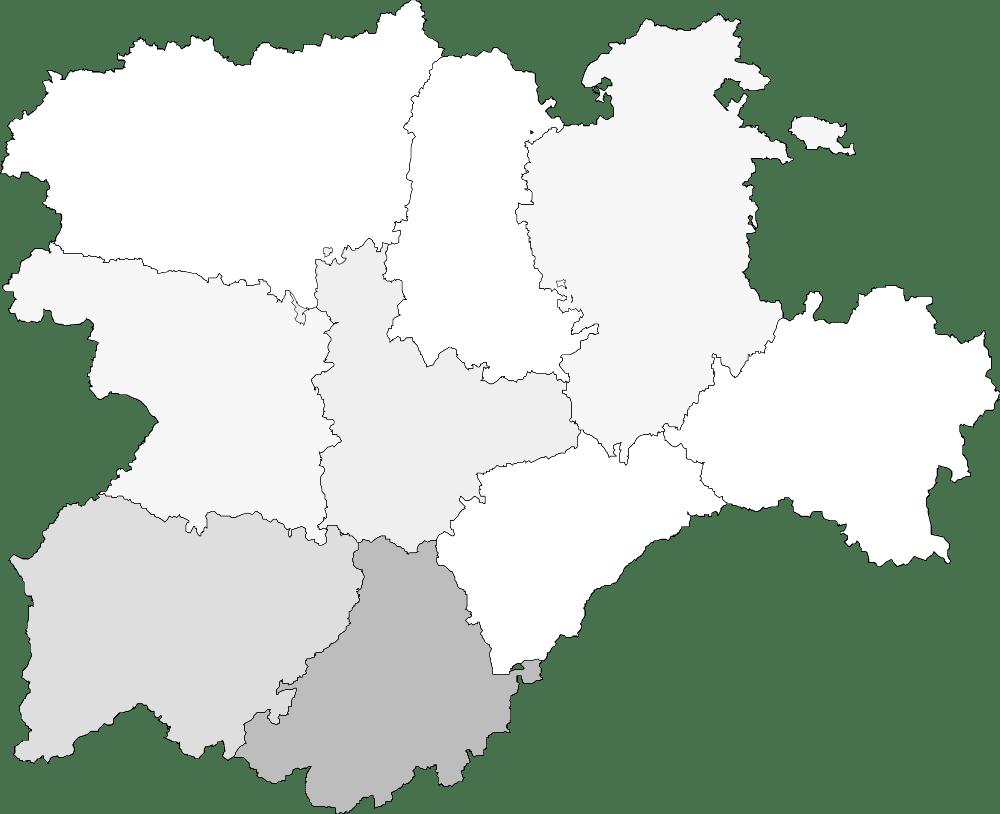 Mapa mudo de Castilla y Leon para imprimir