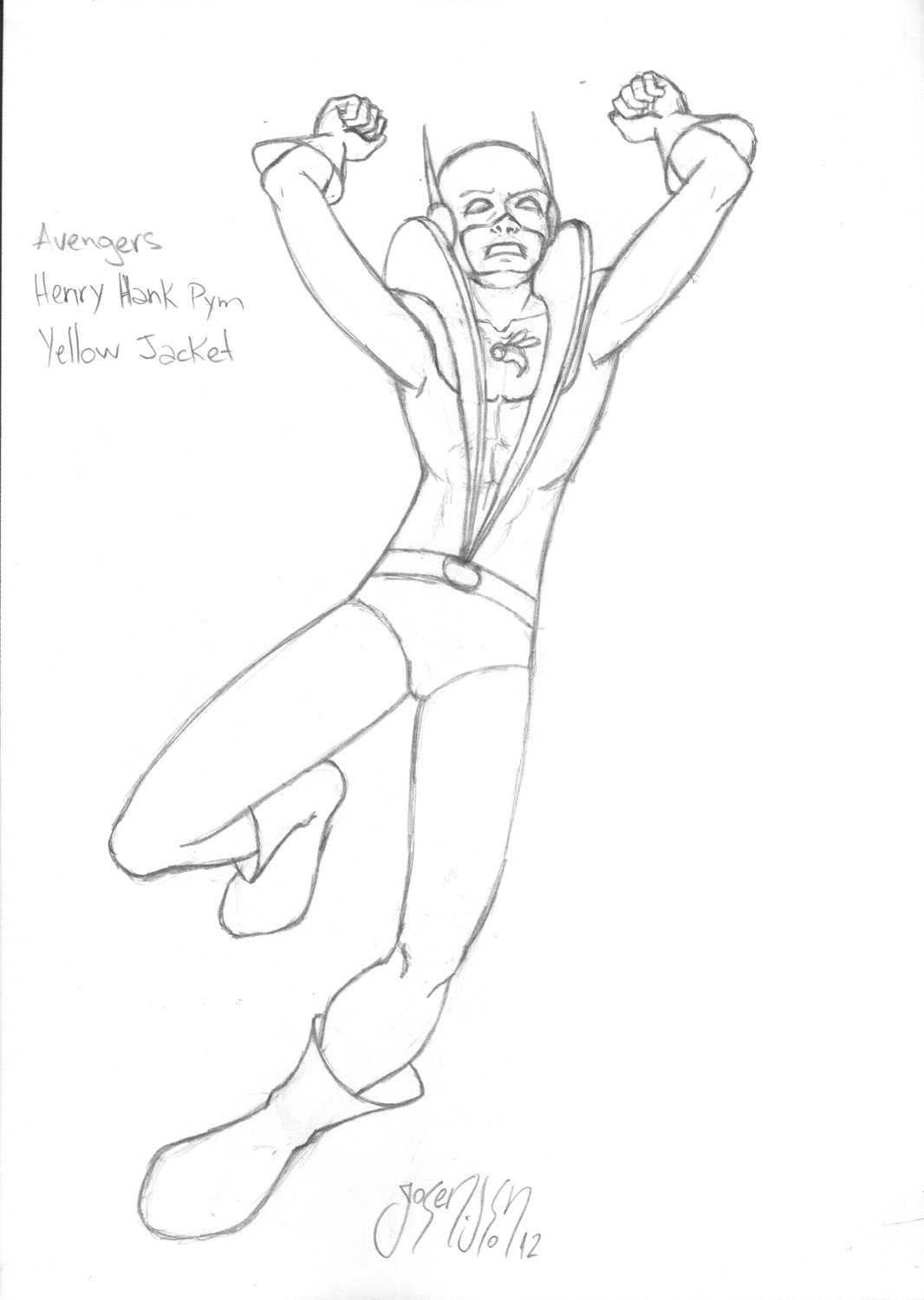A Yellow Jacket Coloring Pages Yellow Jacket Coloring Page