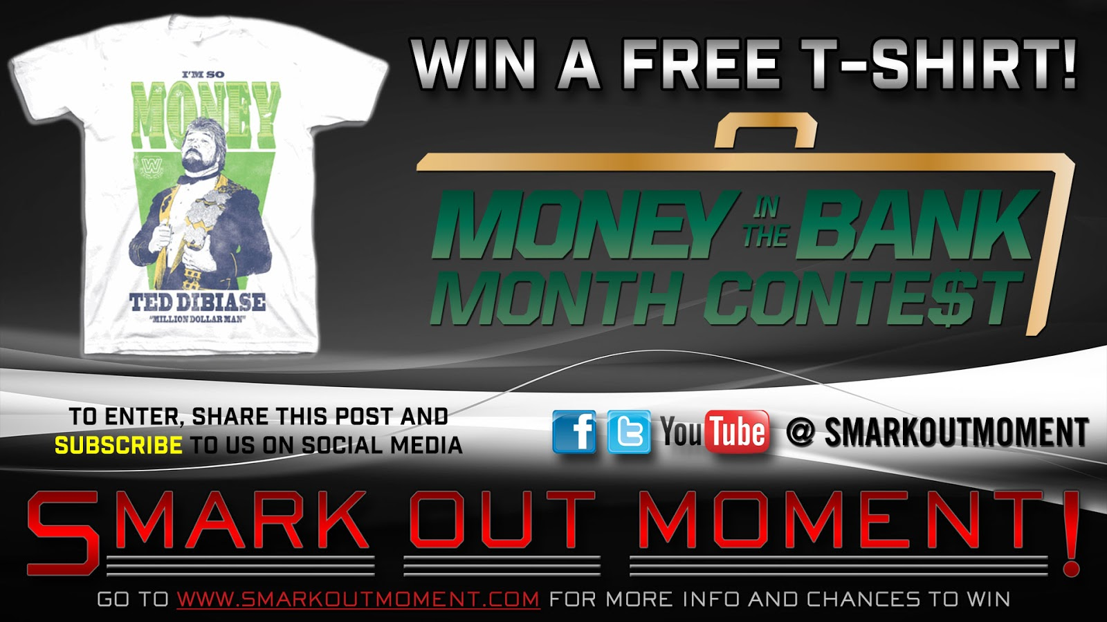 win a free WWE t-shirt by subscribing to Smark Out Moment