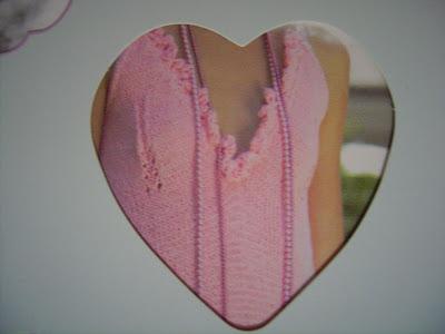 gestricktes rosa abendkleid