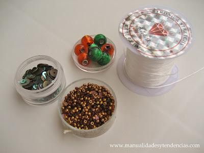 Materiales pulsera de charms / Charms bracelet supplies / Matériels bracelet de charms