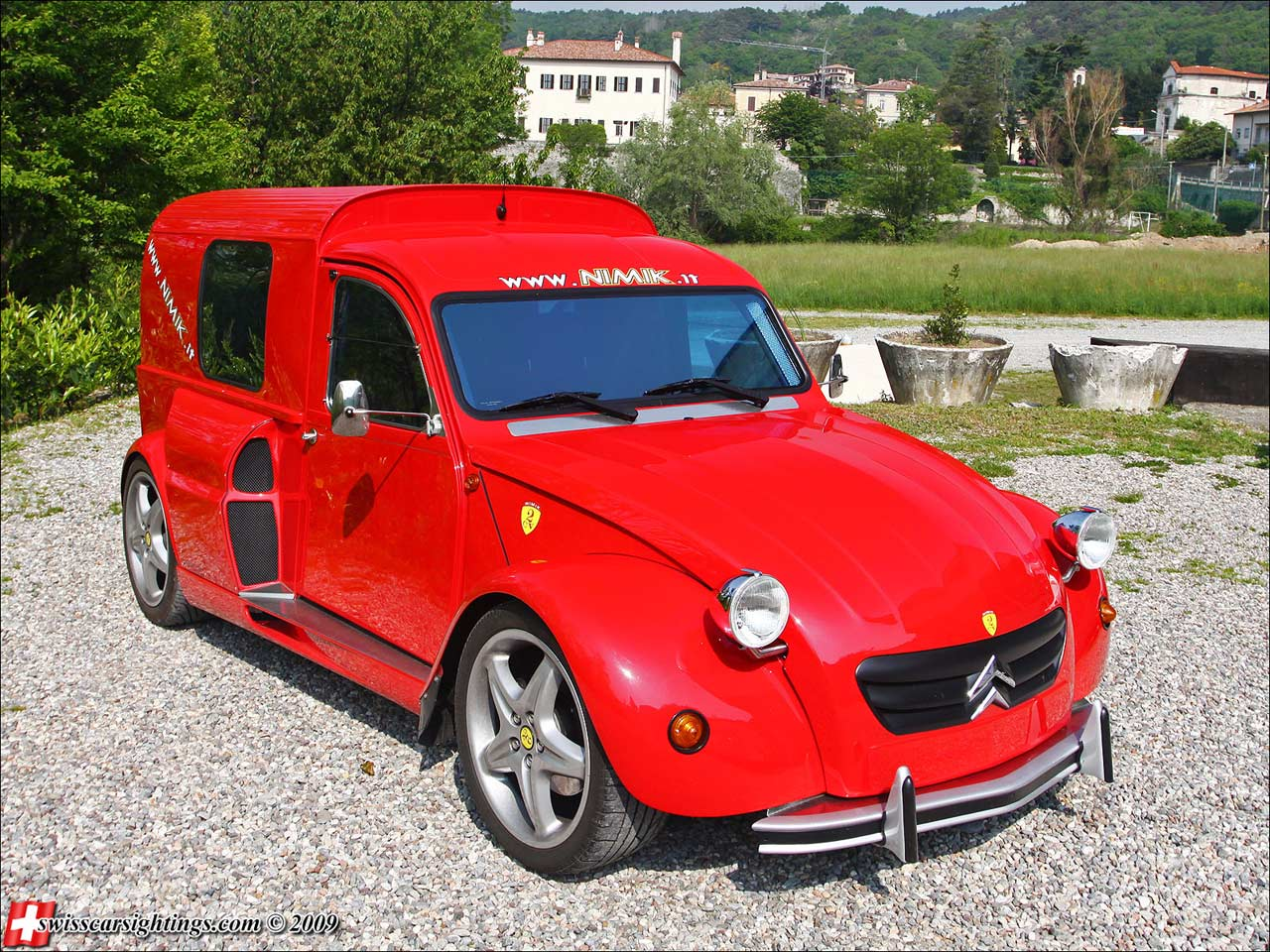 Citroen 2cv Nimik Breadvan V8 Ferrari on old cars 30s 40s 50s and 60s