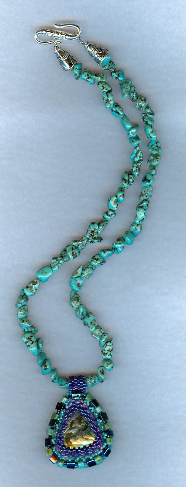 Turquoise and Paua shell necklace