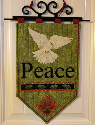 Needles N Knowledge Dove Peace Banner Inspiration