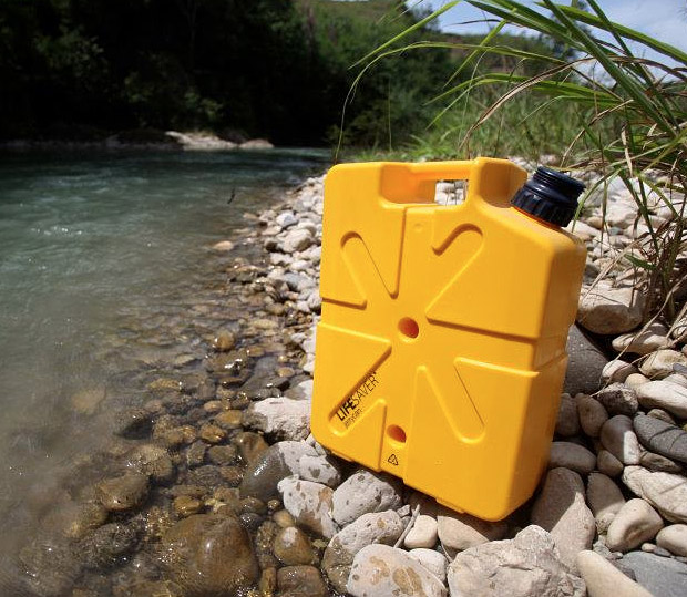 Lifesaver Jerrycan ( Lifesaver Jerrycan price $250 ) Lifesaver Jerrycan Can will keep you and your fellow campers from water born sickness. The sturdy 18.5-liter Lifesaver Jerrycan