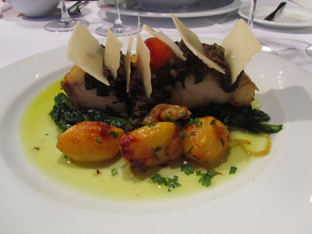 Roasted Cod with black olive pesto and parmigiano cheese 7755906e758