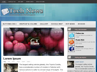 TechNews Blogger Template