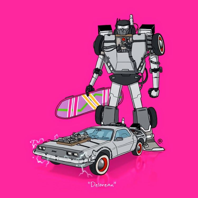 Delorean Rawlsy Transformers Back to the Future