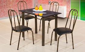 Mesa Retangular 4 Cadeiras