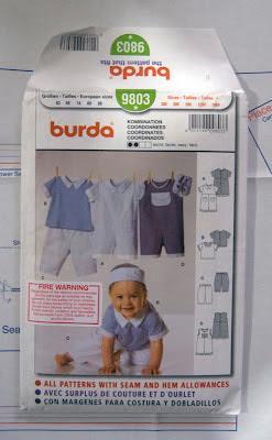 Burda baby overalls pattern