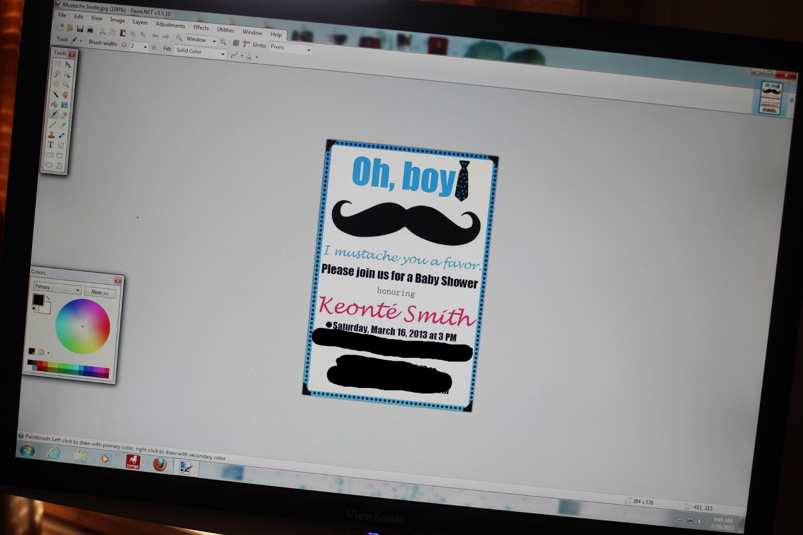 diy simple little man mustache baby shower save the date second either print your card out at home on printer paper cardstock etch or you can send them to a photo processing center i chose walmart photos