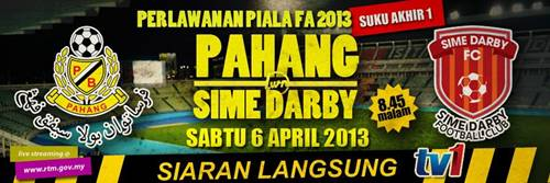 live pahang vs sime darby piala fa 2013 Live Streaming Pahang vs Sime Darby 6 April 2013   Piala FA 2013