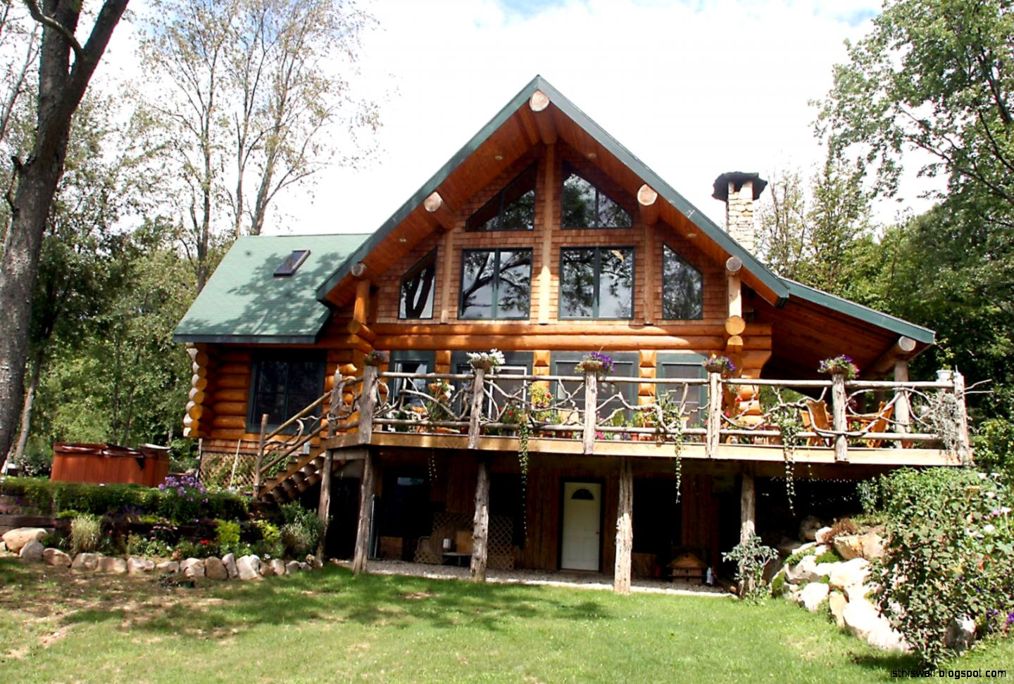 Log homes design this wallpapers for Log cabin architecture