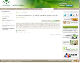 Proyecto Decreto SSPA, Ordenación de la Formación Sanitaría Especializada