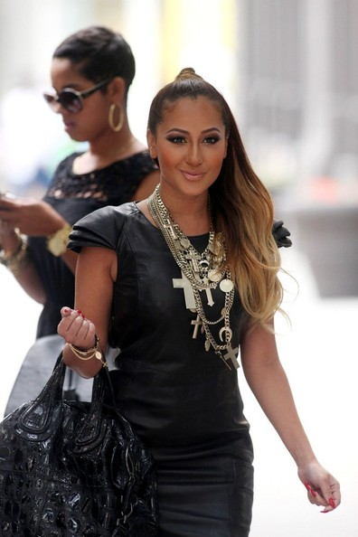Adrienne Bailon Givenchy Fall 2008 Layered Cross Necklace