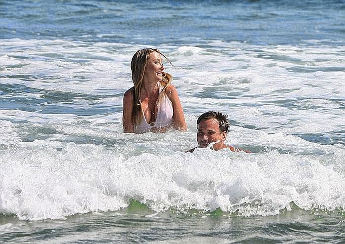 she holidayed at Malibu on Tuesday, June 24, 2014. . . . .The white bikini is the beginning and end of the story.