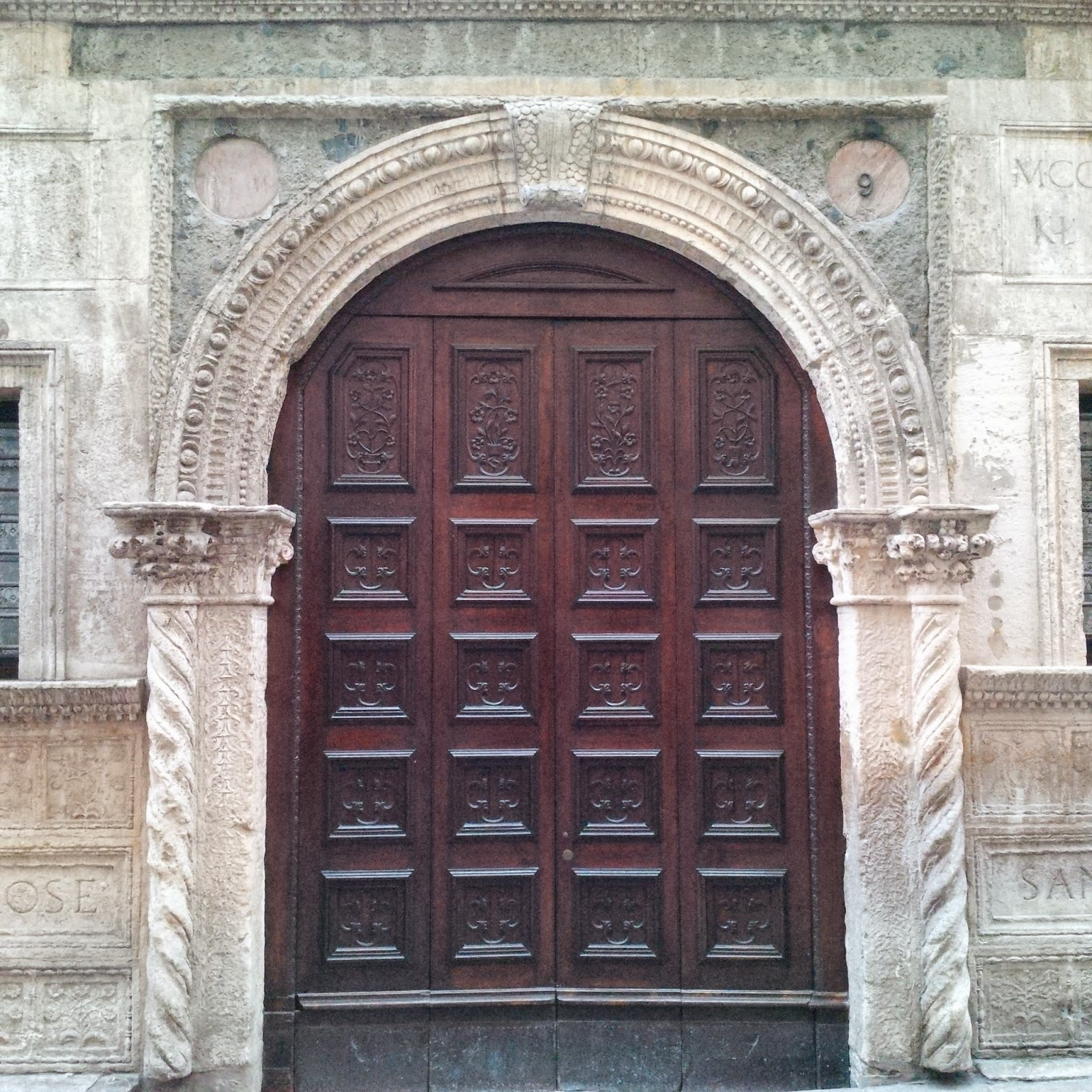 The door of Antonio Pigafetta's house