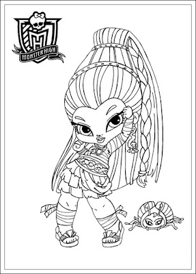 Kids-n-fun 32 Ausmalbilder von Monster High - monster high malvorlagen zum drucken