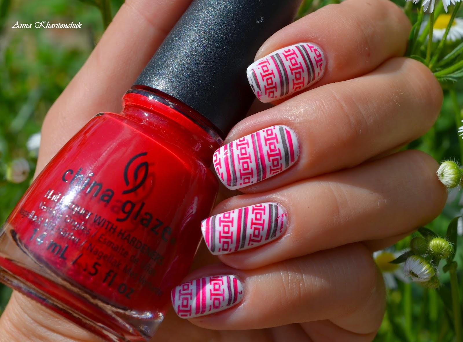 """""""Вышиванка"""" на ногтях, стемпинг Lesly и Born Pretty Store"""
