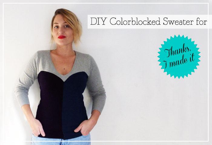 5 ideas para reciclar un jersey viejo. DIY Jersey colorblock 2nd Funniest Thing