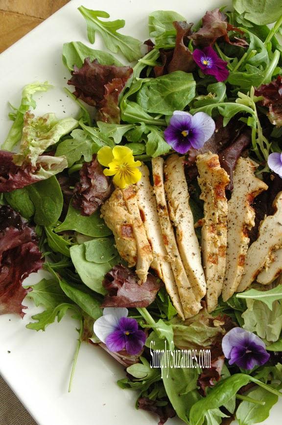chicken salad with citrus pepper dressing