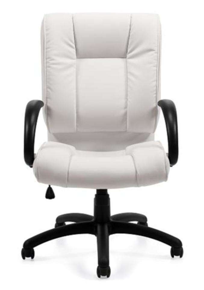 White Luxhide Chair