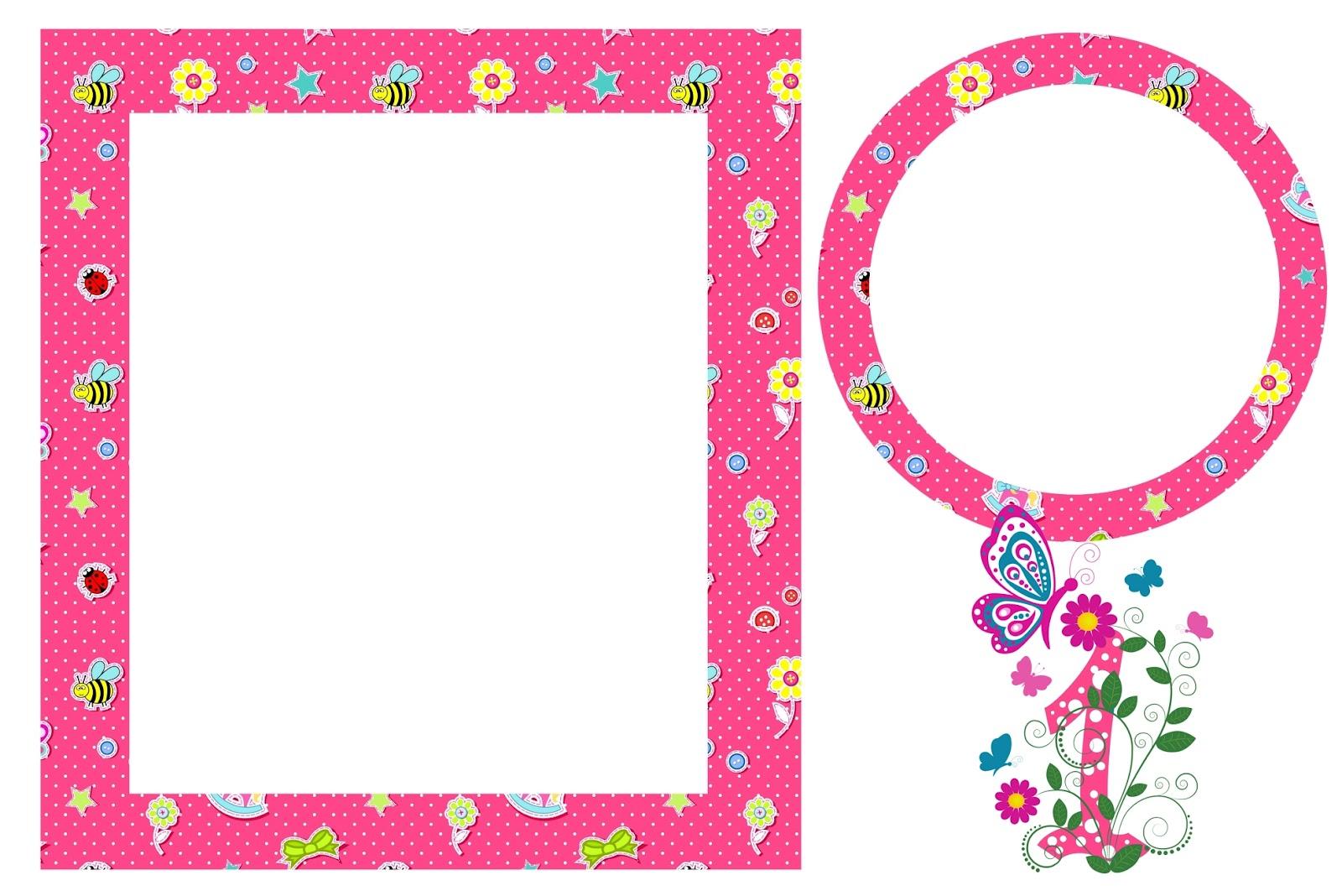 moldura para fotos tema jardim encantado : moldura para fotos tema jardim encantado:Ano Menina – Kit Completo com molduras para convites, rótulos para