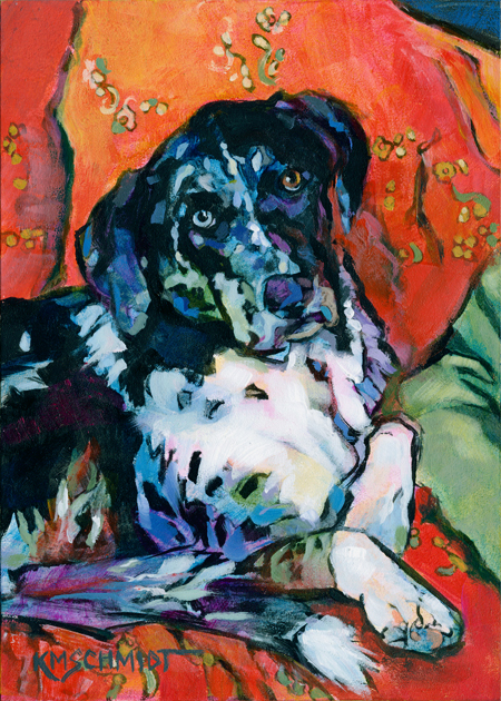 ... Catahoula Leopard Dog/Labrador Retriever mix dog painting • comfy