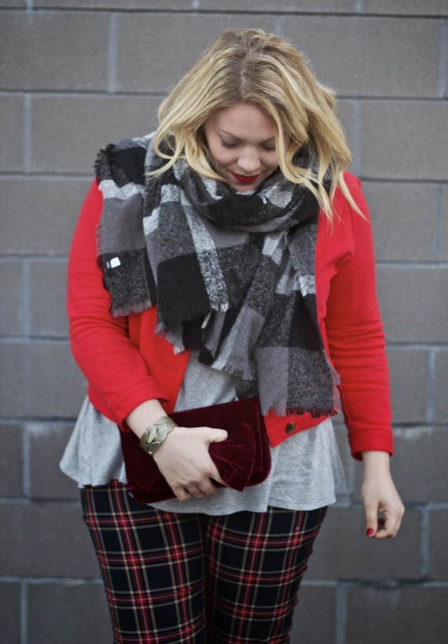 how to wear plaid for the holidays