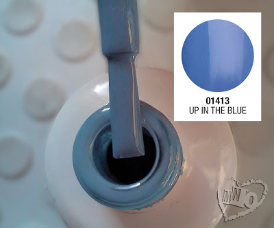 Soak Off Gel Gelish Nail Harmony Up in the Blue Swatch