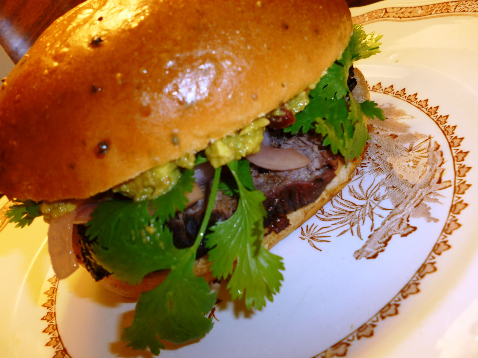 Spicy Grilled Lamb Sandwich