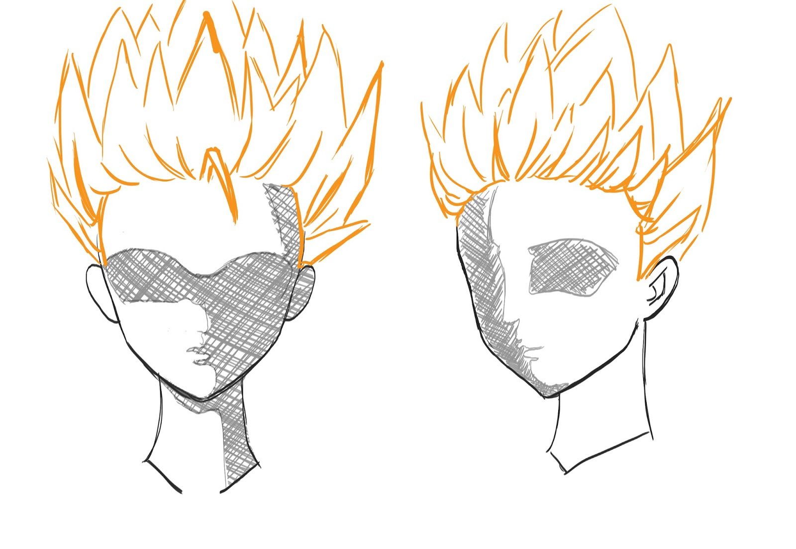 How To Draw Anime Hair Step 13