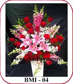 rangkaian bunga hari raya imlek